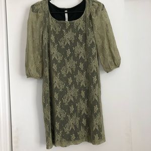 Seventh Day Green Lace Shift Dress Small Urban